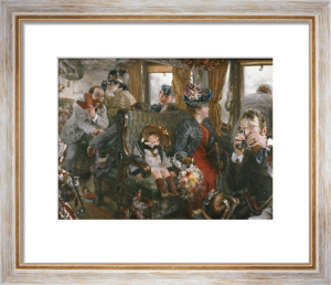 On The Train, Observed From Life, 1892 by Adolf Von Menzel