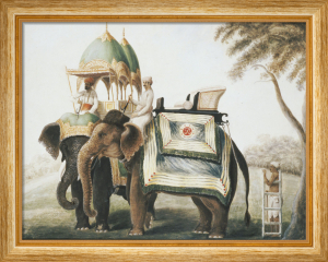 Elephants with their Mahout, c.1815 by Anonymous