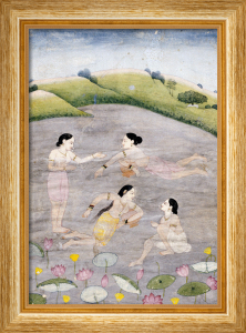 The Wives Of Raga Hindola Swimming In A Lake With The Aid Of Pitchers by Christie's Images