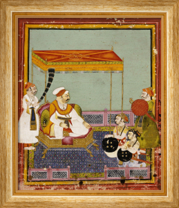 Portrait Of Maharaja Umed Singh Of Bundi With His Sons Bundi Circa 1765 by Christie's Images