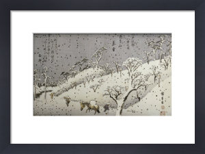Evening Snow At Asuka Hill. From The Series Eight Views Of The Environs Of Edo by Ando Hiroshige
