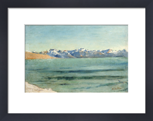 Sunrise Over Mont Blanc, Circa 1890 by Ferdinand Hodler