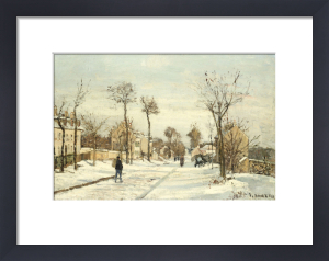 Snowy Road, Louveciennes by Camille Pissarro