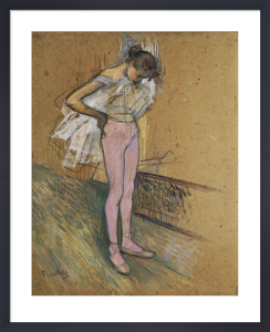 A Dancer adjusting her Leotard by Henri de Toulouse-Lautrec