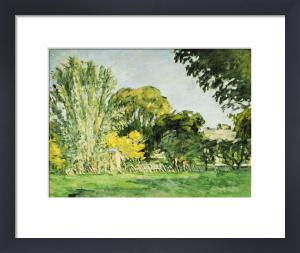 Trees At Jas De Bouffan by Paul Cezanne