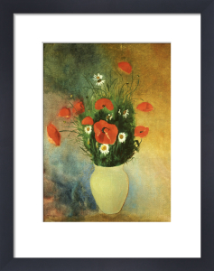 Poppies And Daisies by Odilon Redon