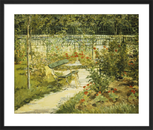 The Bench in the Garden at Versailles by Edouard Manet