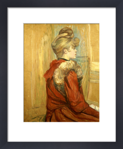 Girl In A Fur, Miss Jeanne Fountain, 1891 by Henri de Toulouse-Lautrec