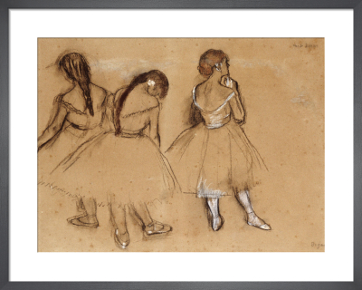 Three Dancers (sketch) by Edgar Degas