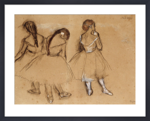 Three Dancers (sketch) by Edgar Degas