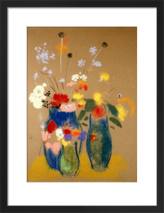 Three Vases of Flowers, c.1908 by Odilon Redon