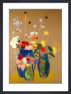Three Vases of Flowers, c.1908 by Odilon Redon