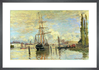 The Seine at Rouen, 1872 by Claude Monet