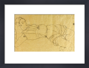 Young Woman Lying On Her Back, 1915 by Egon Schiele