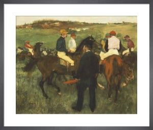 Racehorses (Leaving the Weighing), c.1874 by Edgar Degas