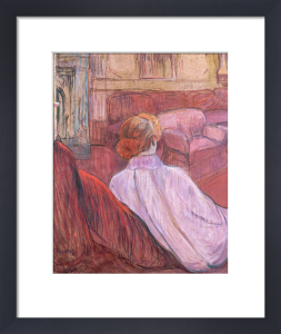 Woman Sat On A Red Settee by Henri de Toulouse-Lautrec