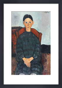 A Young Girl with a Black Apron, 1918 by Amedeo Modigliani