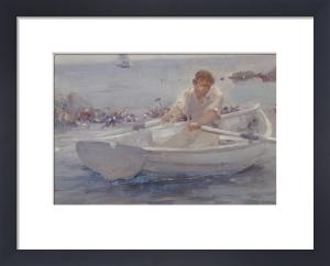 Man In A Rowing Boat, 1907 by Henry Scott Tuke