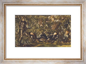 The Prince Entering The Briar Wood by Sir Edward Burne-Jones