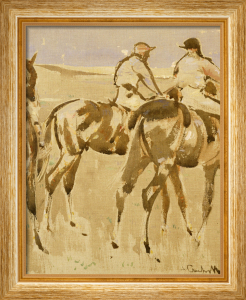 American Jockeys, Or Racehorses by Joseph Crawhall