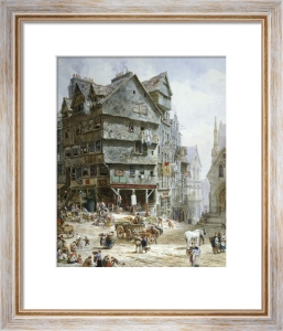 The High Street From The West Bow, Edinburgh by Louise Rayner