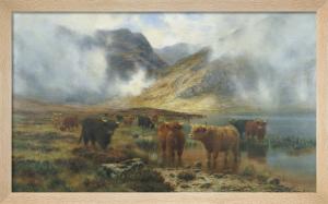 By Loch Treachlan Glencoe, Morning Mists, 1907 by Louis Bosworth Hurt