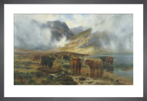By Loch Treachlan Glencoe, Morning Mists, 1907 by Louis Bosworth Hurt
