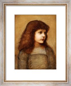 Portrait Of Gertie Lewis, Half-Length by Sir Edward Burne-Jones