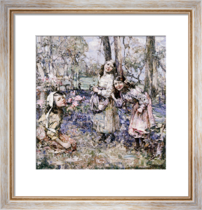 Gathering Bluebells, 1909 by Edward Atkinson Hornel