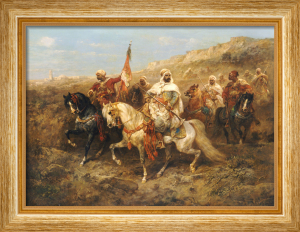 A Regal Procession by Adolph Schreyer