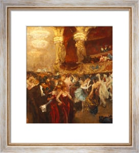 The Masked Ball At L'Opera by Charles Hermans