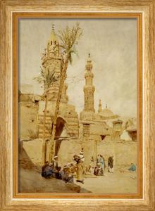 An Arab Street Scene, Cairo by Walter Tyndale