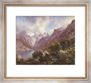 An Alpine Lake, 1867 by Karl Millner
