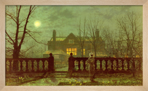 Lady in a Garden by Moonlight, 1882 by John Atkinson Grimshaw