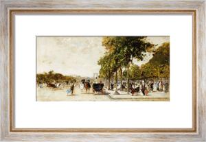 Les Champs Elysees, Paris, 1894 by Luigi Aloys-François-Joseph Loir