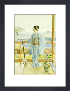 Geisha Standing On A Balcony, 1893 by Anton Alois Stern