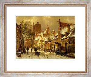 A Winter Street Scene by Willem Koekkoek
