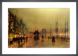 Liverpool Docks Art Print By John Atkinson Grimshaw King Amp Mcgaw