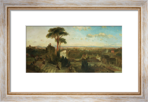Rome - Sunset From The Convent Of San Onofrio by David Roberts