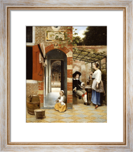 Courtyard Of A House In Delft, 1658 by Pieter de Hooch