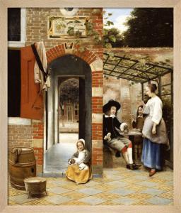 Courtyard of a House in Delft, 1658 by Pieter de Hooch