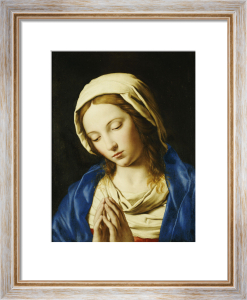 The Madonna, Bust Length, At Prayer by Sassoferrato (Giovanni Battista Salvi)
