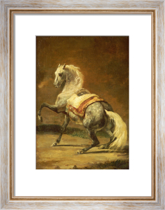 Dappled Grey Horse. Cheval Gris Pommele by Jean-Louis-André-Théodore Géricault
