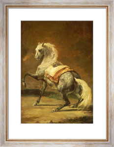 Dappled Grey Horse (Cheval Gris Pommele) by Jean-Louis-André-Théodore Géricault