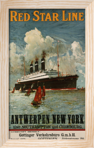 Red Star Line, Antwerpen-New York, C.1910 by Christie's Images
