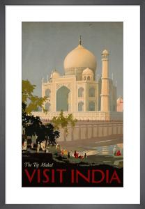 Visit India - the Taj Mahal, c.1930 by William Spencer Bagdatopoulus