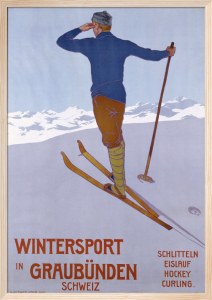 Wintersport in Graubunden, 1906 by Walter Koch