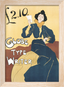 Globe Type Writer, 1899 by Edward Bella