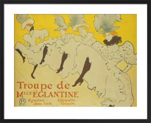 La Troupe de Mademoiselle Eglantine, 1896 by Henri de Toulouse-Lautrec