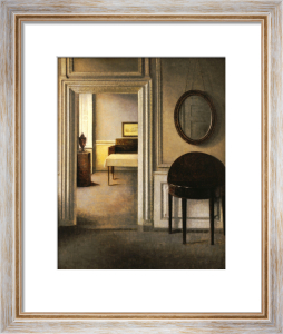 The Music Room, Strandgade 30, 1907 by Vilhelm Hammershoi